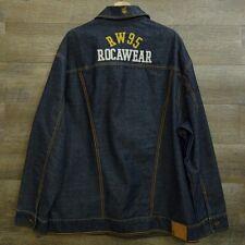 Rocawear Mens Denim Jacket Embroidered Size XL