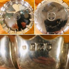More details for exquisite solid silver scalloped presentation dish with george iv coin insert