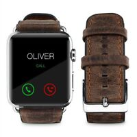 Genuine Leather Strap Band for Apple Watch 42mm 44mm Series 4 3 2 1 Brown #7B5