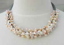 Collar de joyería con perlas de acero inoxidable