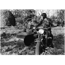 Cary Grant Seated in Side Car with Woman on Motorcycle 8 x 10 Inch Photo