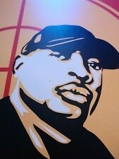"""CHUCK D 2007 Rare Serigraph 18""""x24"""" Hand Signed by Shepard Fairey"""