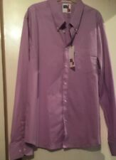 mens Get Up   Slim Fit lilac shirt size 3xl new with tags