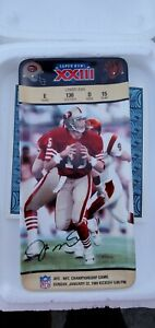 Joe Montana Super Bowl XXII Collector Ticket Plate Bradford Exchange New in Box