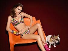 Freya Marinella Halter Bikini Top UK 30F + Tie Side Briefs Small Rainforest  (0)