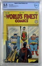 WORLD'S FINEST COMICS #32 CBCS 5.5 Superman Batman 1948 CGC