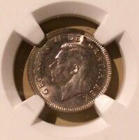 1949 CANADA 10 CENTS NGC MS 62 - Silver