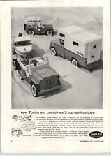 1963 PAPER AD Tonka Toy Trucks Pick Up Camper RV Motor Boat Jeep Surrey