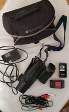 SONY Handycam Video 8 Camcorder - with Charger, 2 Batteries, RCAs and Bag - TE