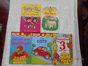 LADYBIRD X 5. TOPSY & TIM, ON THE FARM, DUCKLINGS, I LIKE CARS, STORYTIME
