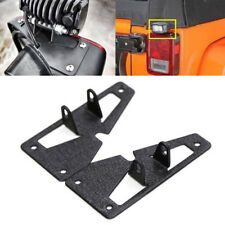 Black Rear Tail LED Work Light Mounting Bracket Kit For Jeep JK Wrangler 07-15
