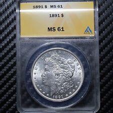 1891 Morgan Silver Dollar ANACS MS61 (48638)