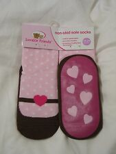 Luvable Friends Non-skid Sole Slipper Socks - size 24M