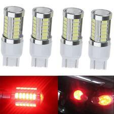 4X Red Strobe 7443 33SMD LED Bulb Car Brake Reverse Parking DRL Fog Light Lamp