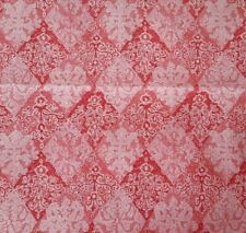 Cloisonne BTY Unbranded Pink Red White Diamond Damask Print