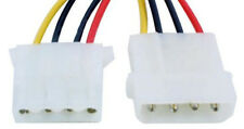 Lot10 3ft Disk Drive Internal Power Extension Molex 4pin Male~Female Cable/Cord