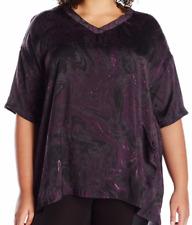 Melissa McCarthy Seven7 Purple Gray Paisley 2X Plus Tunic