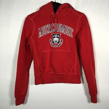Abercrombie & Fitch Red Hoodie Ski Wear Women's Juniors Sz. M Crest Embroidered
