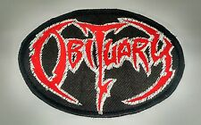 Obituary Embroidered Patch USA Seller Fast Delivery! Classic Death Metal