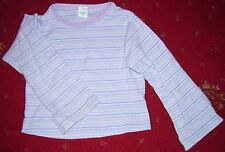 Pretty purple striped long sleeved top age 4 years