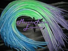 10XL Tie dye Seadreams Solid Saddle Hackle Whiting feather extensions for hair