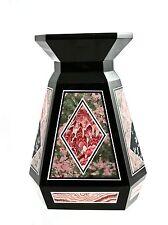 Beautiful Elegance Fashion Multi Stone Intarsia Vase Collectible
