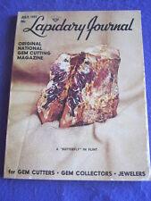 LAPIDARY JOURNAL - BUTTERFLY IN FLINT - July 1977 v 31 # 4