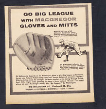 Gil McDougald 1950's MacGregor Baseball Glove Mitt Newspaper Advertisement