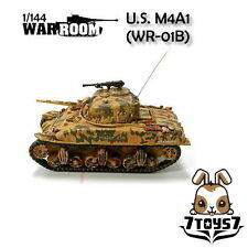War Room 1/144 M4A1 US Sherman Tank #B Prepainted Pre-assembled WWII Bid  WR001B