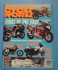 CYCLE WORLD MAGAZINE FEB/1991 FIRST OF THE FAST-1991 SUZUKI GSX-R1100 & GSX-R750