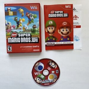 Super Mario Bros (Wii, 2009) - Complete - Disk Doesn't Read