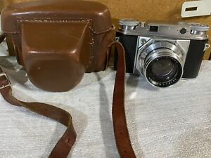 VOIGTLANDER PROMINENT WITH NOKTON 50MM F1.5 LENS WITH LEATHER CASE - SOLD AS IS