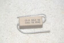 RESISTOR: DALE NEW NOS CP-5 POWER 220 ohms 5 watts 5% sand-style
