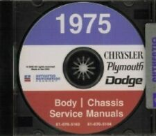 CHRYSLER 1975 Imperial, Cordoba, Newport & New Yorker Shop Manual CD '75