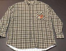 Vintage The Disney Store Tigger Plaid Flanel Pocket Green Brown Warm Winter D18