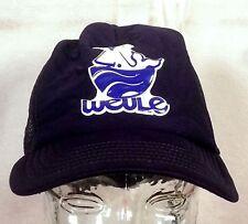 vtg 80s retro Weule Boat Harbor Whale Snapback Trucker Hat Cap indie
