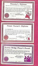 3-1940'S-Arcade Cards-Whistler'S Diploma-Nickel Nurser'S Diploma-Screwy Bridge P