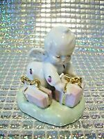 "*SUPER RARE VTG* Napco Itsy Bitsy Angel Girl w/ Pink Gifts ""LOVIN YOU"" Figurine"