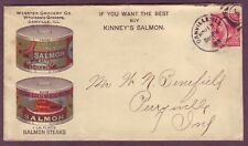 SALMON - CANNED FISH - SEAFOOD MultiColor ILLINOIS to INDIANA 1898 AD Cover