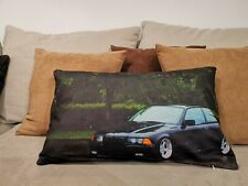 E36 KISSEN 50x30 - PILLOW TUNING AUSPUFF RETRO CLASSIC AUTO OLDTIMER BMW M3 M4