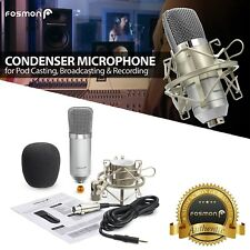 Professional Podcast Studio Condenser Microphone Recording Mic Kit ShockMount