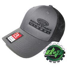 Ford Powerstroke trucker hat richardson Charcoal Gray Black mesh flex fit sm/md