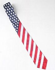 American Flag Mens Neck Tie Patriotic Necktie 4th July Charity Item 100/% Donated