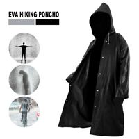 Men's Overalls Waterproof Raincoat Lightweight Work Hooded Long Coats EVA Jacket