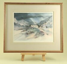 "Gillian McDonald Signed Limited Edition Print "" Mountain Farm "" Sold Out 430/500"