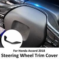 Carbon Fiber Style Inner Steering Wheel Frame Cover Trim for HONDA ACCORD 2018