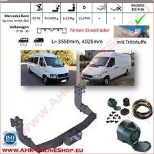 Gancio traino fisso MB Sprinter W901-905 / VW 28-35 95-06 +kit elettrico 13-poli