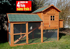 POULAILLER HOUSE BOIS 5/6 POULES + KIT OFFERT-100% SAPIN FINLANDE ! Réf AS4428B