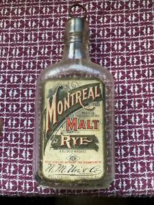 PRE PRO LABELED HALF PINT MONTREAL MALT RYE N.M. URI & CO. LOUISVILLE KY.
