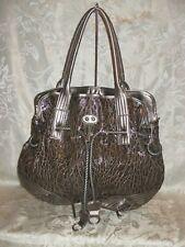 Brown Snake Skin Shoulder Bag